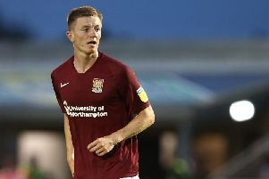 Scott Wharton on his first appearance for the Cobblers. Picture: Pete Norton