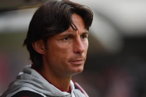 Crawley Town head coach Gabriele Cioffi. Picture courtesy of Getty Images