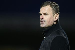 Not happy: Richie Wellens was highly critical of the officials following his side's defeat to Northampton on Tuesday.