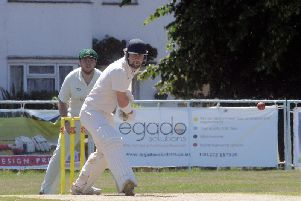 Chris Green made an unbeaten 61 in Broadwater's defeat to table-topping Roffey 2nd XI. Picture by Kate Shemilt