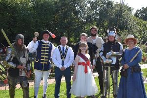 The Knights of Skirbeck hosted a tournament at the Village Church Farm in Skegness over the Bank Holiday. Photo: Barry Robinson.