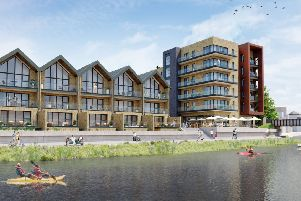 An artist's impression of the waterfront development at Ropetackle North, Shoreham. Photo: Hyde Group