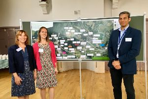 The Arundel Bypass project team from Highways England, including programme leader Jason Hones
