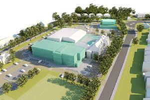 Artist's impression of what the Downs Leisure Centre site could look like with a new health hub