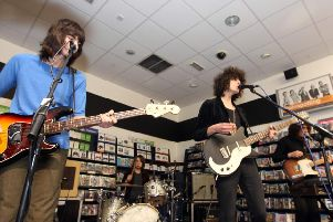 Temples performing in HMV in 2014