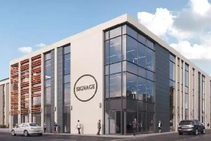 Artist's impression of Warwick District Council's proposed new HQ in Leamington.