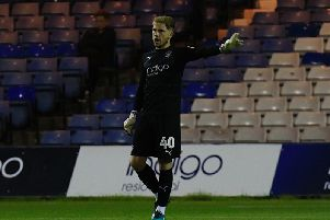 Town keeper Harry Isted has been sent out on loan