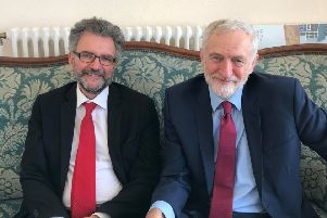 Peter Chowney and Jeremy Corbyn