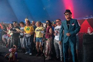Victorious Festival - Tonic Ska Choir in the Beats and Swing Tent of Victorious Festival. Picture: Vernon Nash (250819-003)