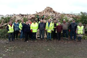 The Littlehampton Bonfire Society volunteers ahead of the 2017 celebrations