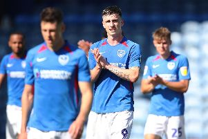 Oli Hawkins, middle, played at centre-half for the Blues today. Picture: Joe Pepler/Digital South