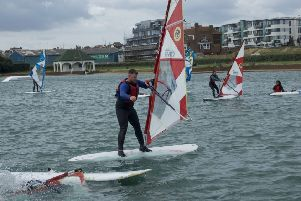 Windsurfing is part of the programme, thanks to Neilson Watersports