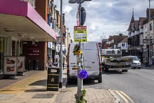 Floral tributes were left at the scene of a fatal crash on Wellingborough Road on August 17