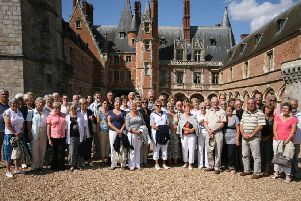 East Preston Twinning Association members and their hosts from Brou visit the Chateau de Maintenon during their exchange trip in August, 2010