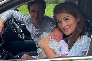 Jessamy, Keir and baby Orlando