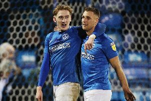 Ronan Curtis, left, and Lee Brown. Picture: Joe Pepler