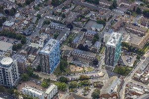 Leamington House and Horatia House aerials. Picture: Portsmouth City Council