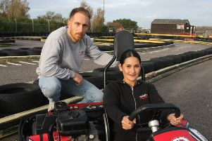 DM19101885a.jpg. Brooklands Go Karts, Worthing, seeking new home. Owners Marc and Moona Flinders.Photo by Derek Martin Photography. SUS-190810-182244008
