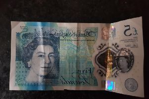 The 5 note in question that was refused