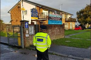 Police are continuing their patrols outside schools in Worthing. Photo: Twitter/Adur and Worthing Police