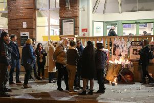 The birthday vigil for Georgina Gharsallah, outside Worthing railway station in 2018.