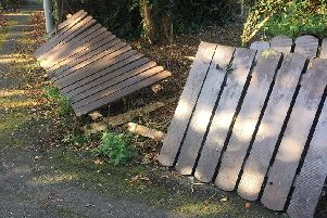 The broken fence that an elderly woman found
