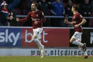 Jack Bridge, now a Carlisle player, scored twice when Cobblers beat the Cumbrians 3-0 earlier in 2019.