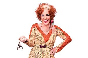 Lesley Joseph as Miss Hannigan. Photo Credit Matt Crockett