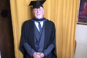 Ray Lister has graduated with a BA fine arts degree at the age of 77