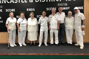The home Egham team members, from left, Lorna Main, Judith Moody, Jean Hoyles, Paul Bark, Steve Boucher, Phil Boulton, Olive Wells and Norman Burton.