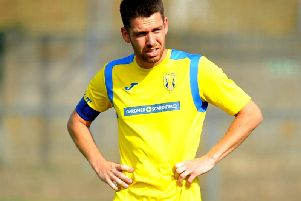 Lewis Finney was on the scoresheet for Lancing. Picture by Steve Robards