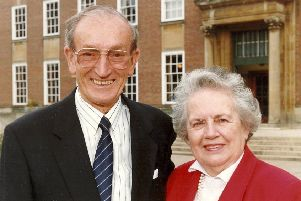 Mima Robinson from Lancing with her husband Cliff Robinson