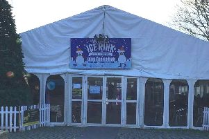 The winter ice rink, in Steyne Gardens, Worthing, will be around until at least 2026