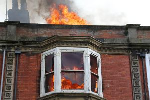 The fire in Rowlands Road back in 2017