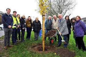 The tree planting event in Sompting