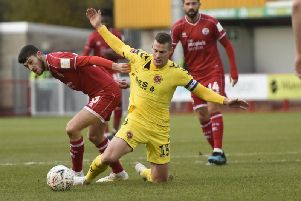 Ashley Nadesan in action against his old club
