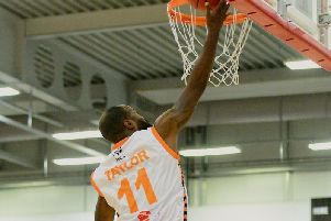 Zaire Taylor scored 17 in the Thunder's defeat to the Derby Trailblazers on Saturday.