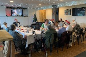Steyning Town Community christmas lunch for Croft Meadow residents