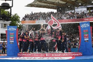 England lift the World Cup in 2017