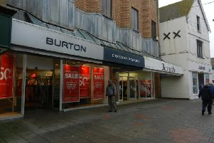 The Dorothy Perkins store in Montague Street. Burton and Bonmarch are not affected.