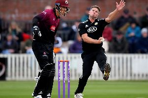 Stuart Meaker in action for Surrey / Picture: Getty