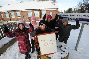 Chesswood School in Worthing stayed open during the snow, earning a thumbs up from pupils. Photo: Stephen Goodger
