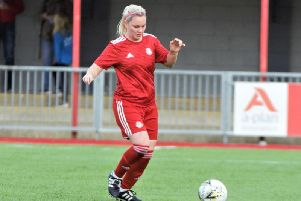 Sara Hinton netted in Worthing Women's League Cup quarter-final victory. Picture: OneRebelsView