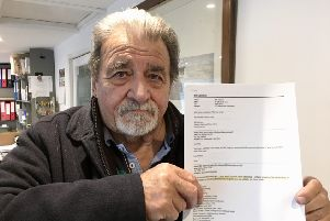 Bill Chapman with the letter
