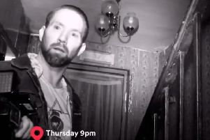 TV presenter and ghost hunter Nick Groff pictured in the Skegness 'Hell house'.