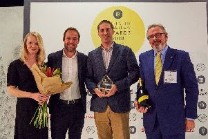 Emily Challis, Independent Hotel Show event manager, James Tweddle, sales director at Sky, Adam Rowledge, general manager at Georgian House, and Peter Hancock, chief executive of Pride of Britain Hotels
