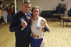 Laura Pain and coach Danny Essex