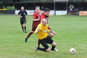 Luke Cole scored twice for Racing Club at Paget.