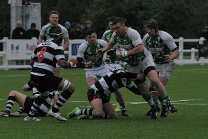 Horsham Rugby Club's Michael Tredgett in action. Picture by Clive Turner