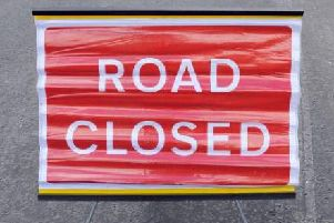 Road partly blocked